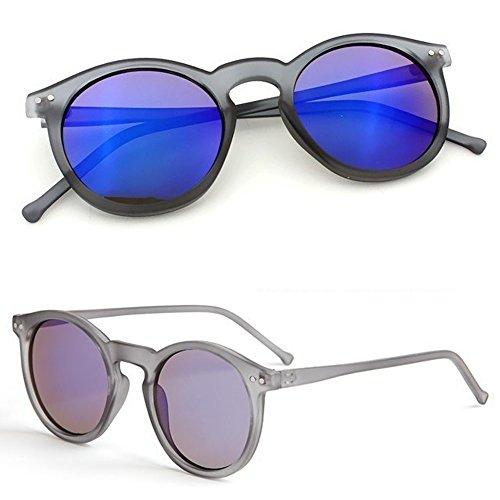Meatyhjk Vintage Retro Herren Damen Brille Rund Metallrahmen Spiegel Gläser Sonnenbrille Brille Brille Tbk