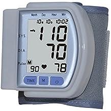 Tensiómetro digital automático electrónico muñeca presión arterial y pulso Medidor de Ritmo de detector Who