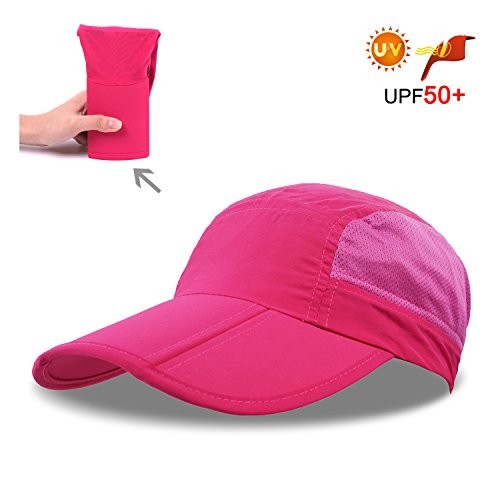 Folding Visor Sport Cap,Women Baseball Cap Mesh Visor Hats for Men Running Quick-Drying Hat Hiking Trucker Hat Hiking Cycling Breathable with 3.54in Brim 19-24in Adjustable Unisex Hat 63g Pink AD5 (Strapse Outdoor Research)