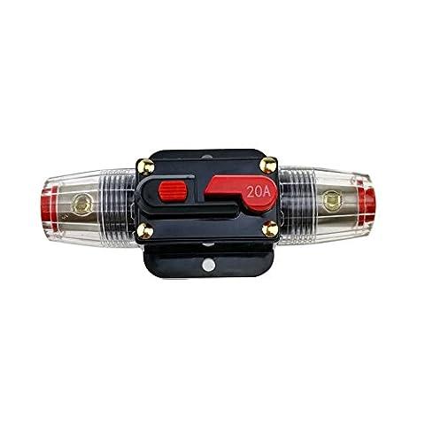 kumeed 12V DC 20A 30A 40A 50A 60une voiture Audio Inline Disjoncteur Protection Fusible pour système