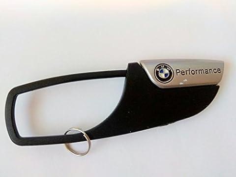 Porte-clés en caoutchouc et métal Avec logo gravé BMW/Ford/Audi, noir, BMW