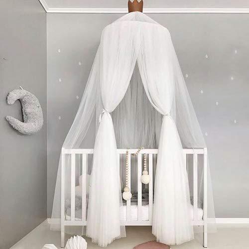 Pueri Baby Betthimmel Deko Baldachin Mückennetz Moskitonetz für Baby Kinder (Weiß)