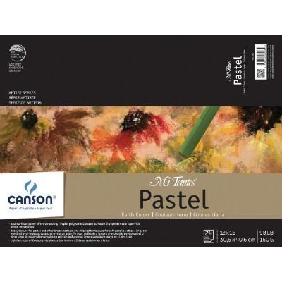 CANSON 98 lb/160g Mi-Teintes Pastel Pad, 12 x 16