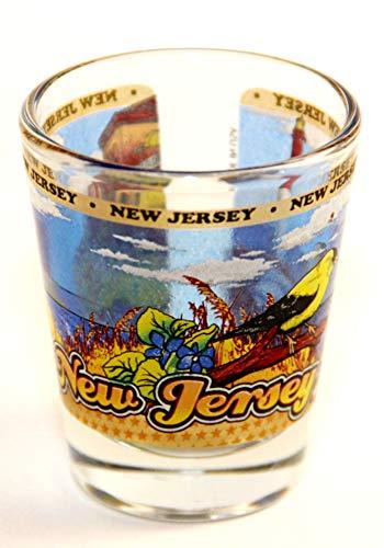 New Jersey State Wraparound Shot Glass by World By Shotglass (Glas Jersey Shot)