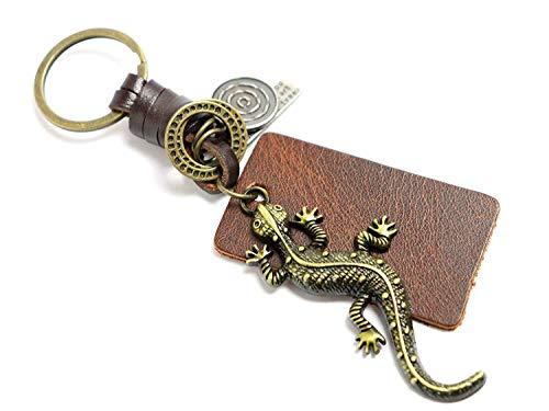 Geschenk |Frauen & Männer Red Leather New Home Vintage Schlüsselanhänger |Mama & Papa Neuheit Freundschaft Reptil Charm Schlüsselanhänger vorhanden |Girl & Boy niedlichen besten F ()