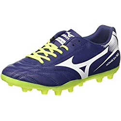 Mizuno Monarcida Neo AG, Scarpe per Allenamento Calcio Uomo, Blu (Blue Depths/White/Safety Yellow), 42 EU