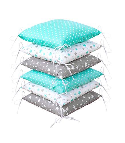 Amilian® Baby Nestchen Bettumrandung 210 cm Bettnestchen Kantenschutz Kopfschutz für Babybett Bettausstattung