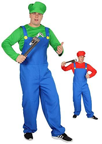 Klempner Kostüm für Herren zu Karneval und Fasching Größe L ()