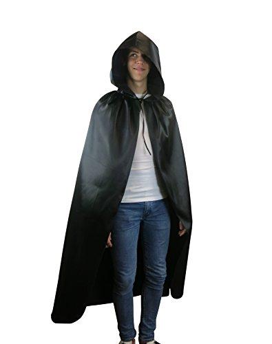Robe longue à capuche Cape Vampire Cape Halloween Costume Party Païen -  noir - ae0b8432c
