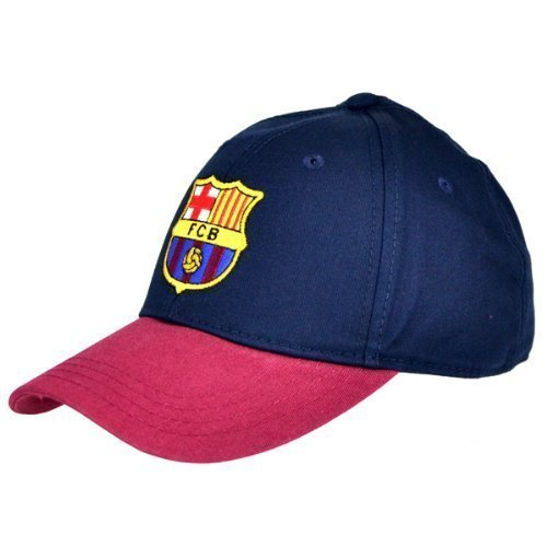 FC Barcelona Football Club Cotton Baseball Cap Hat Blue Maroon Badge Official