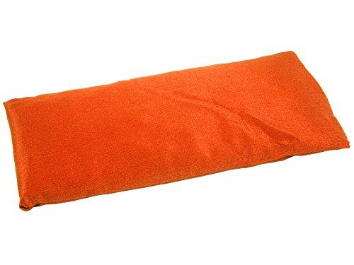 Coussinet pour les yeux - Soie naturel & Lin bio - Orange safran