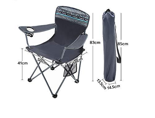 Lostryy-Chaises / Chaise Pliante/d'extérieur/Chaise de Plage/inclinable/Portable/de Jardin/de Camping/de pêche/de Repos/Respirant, Noir, 50 * 50 * 83cm