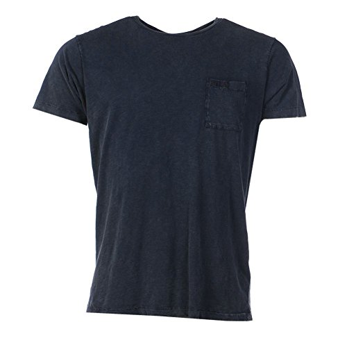 FRANKLIN MARSHALL-Maglietta a maniche corte in cotone blu navy XXL