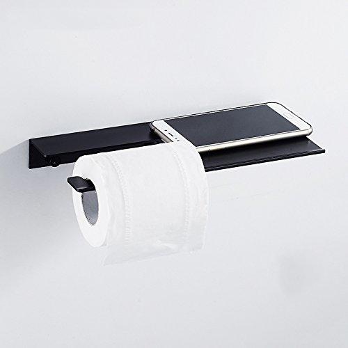 Wc-papier-halter Lufterfrischer (FEIRONG Platz Aluminium Toilettenpapier Box Toilettenpapier Halter Frei Punch Papier Halter Rack)