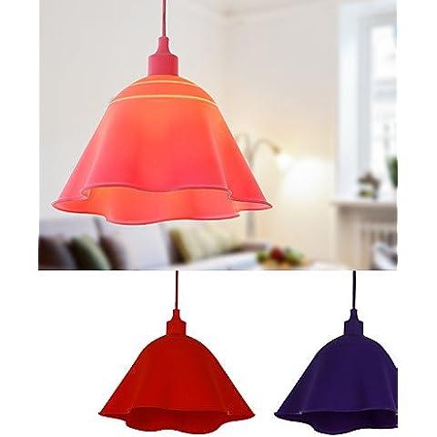 LYNDM-Mejor regalo de Navidad, las lámparas colgantes de silicona modernos y contemporáneos de salón/comedor/cama/ y/oficina/Kids/entrada/Pasillo , 220-240 v-amatista