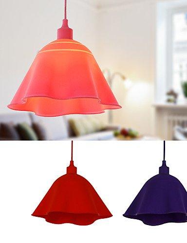 Iluminación luces jiaily colgante de silicona modernos y contemporáneos de salón/comedor/cama/estudio/oficina/Kids/entrada/Pasillo , 220-240 v-amatista