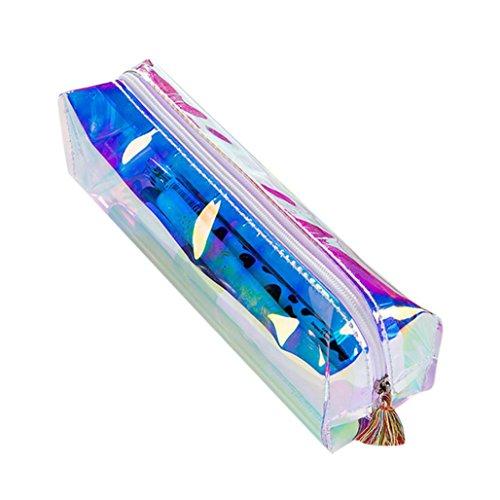 Ouneed® Swag Trousse Zippe Pochette Ecolier de Maquillage 16 * 11 * 6CM (Bleu 1)