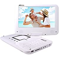 "Takara VR149W Portable DVD player Convertible 9"" White portable DVD/Blu-Ray player - Portable DVD/Blu-Ray Players (22.9 cm (9""), 22.9 cm, MPEG4, Battery, Cigar lighter, DC) - Trova i prezzi più bassi su tvhomecinemaprezzi.eu"