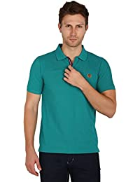 UNI COLORS POLO T-Shirts For Men's In Jhony Collar Pattern Half Sleeves Smart Fit For Ultimate Youth(Billiard)