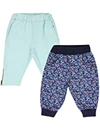 Lil Orchids Girls Pack of 2 Casual Knee Length Pant(LO-2PCK-WVN-CPR-CMB-4)