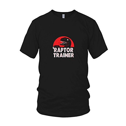 Raptor Trainer - Herren T-Shirt, Größe: M, Farbe: schwarz (Velociraptor Dinosaurier Kostüm)