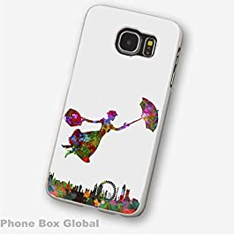 NEW MARY POPPINS ABSTRACT ART CLEAR RIM CASE COVER FITS SAMSUNG GALAXY