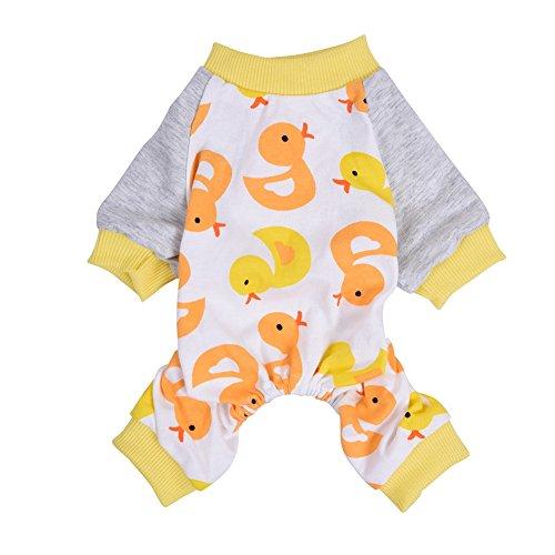 PanDaDa Weiche Baumwolle niedliche Ente Hund Pyjamas Haustier Hund Katze Kleidung Hund (Paar Ideen Kostüm Einfach)