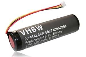 batterie LI-ION 2200mAh pour TOMTOM TOM TOM Urban Rider, 4GC01 etc. Remplace les batteries MALAGA, 6027A0050901
