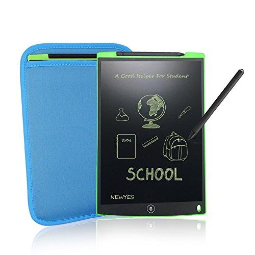 Writing Tablet/ Schreiben Tablet /12-Zoll LCD Grafiktablet mit Stift und Sleeve Fall von Newyes papierlos für Schreiben Malen Notizen / Geschenke für Kinder (Grün)