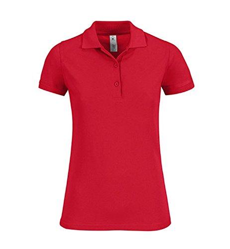Camicia Polo Donna Safran Timeless Pique Shirt Poloshirt Red