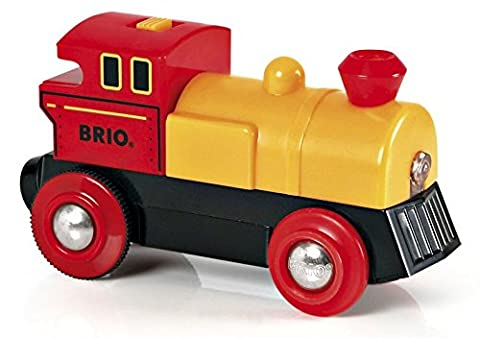 Brio - 33594 - Jeu de Construction - Locomotive à Pile Bi Directionnelle - Jaune