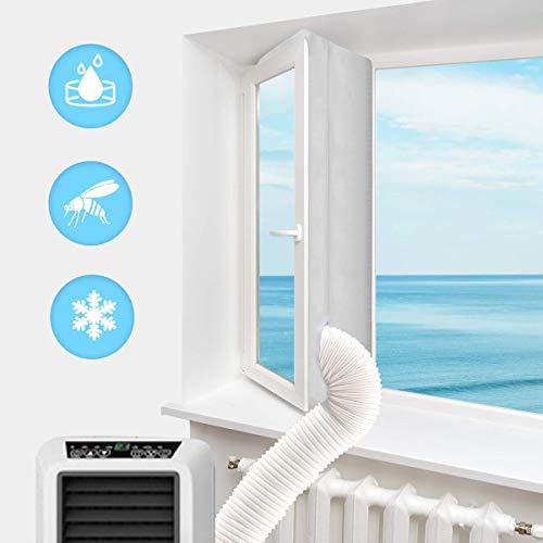 Haice Fensterabdichtung Für Mobile Klimageräte, Klimaanlage, Abluft-Wäschetrockner, Trockner, Bautrockner, Ablufttrockner, Luftentfeuchter, Hot Air Stop Für Fenster, Kippfenster, Dachfenster, 400cm