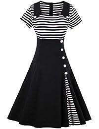 E-Girl M1528 Damen Rockabilly 50er Vintage Retro Kleid Partykleider Cocktailkleider