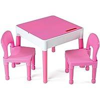 Preisvergleich für Möbel Kinder 1Tisch + 2Stühle Liberty Building Tega House Rosa Idee Geschenk Lego (Rosa)