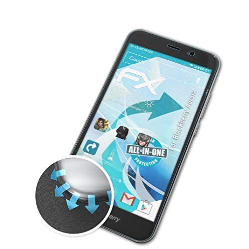 atFolix Schutzfolie passend für BlackBerry Aurora Folie, ultraklare & Flexible FX Bildschirmschutzfolie (3X)