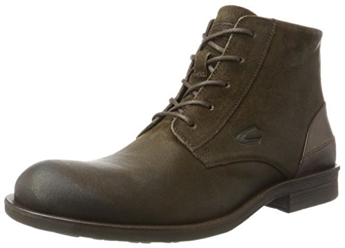 camel active Herren Check 12 Biker Boots, Braun (Taupe 2), 43 EU