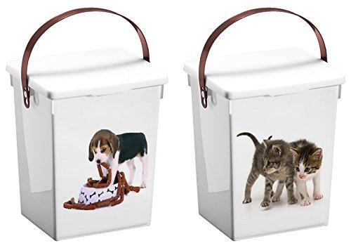 Tierfutterdose 5l,Trockenfutter-Dose,Dose für Tierfutter Motiv Katze