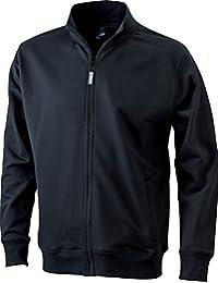 Herren sweatshirt jacke ohne kapuze