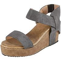 Sandalias Mujer Verano 2018 Casual �� Sandalias Transpirables de Punta Abierta para Mujer Sandalias de Playa Banda elástica de Roma Sandalias Zapatos Casuales cuñas