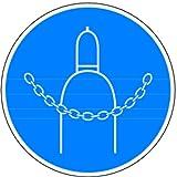 LEMAX® Schild Alu Druckgasflasche durch Kette sichern 200mm