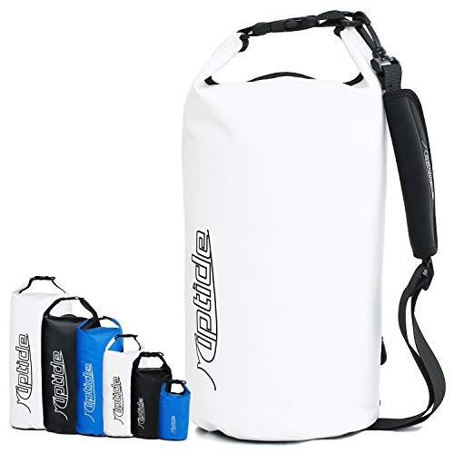 riptide Dry Bag - wasserdichter Packsack mit Umhängegurt | weiß | 20l
