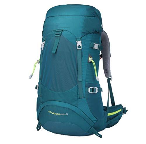 Outdoor Campeggio/Campeggio/Viaggio Borsa/Zaino Tattico 60L Outdoor, Ciano
