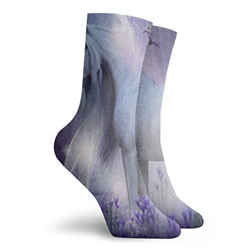 Socken Magic Unicorn Star Glitter Fantastic Männer Frauen Stocking Holiday Sock Clearance für Mädchen - Größe 39-45 - Size 6-11 -