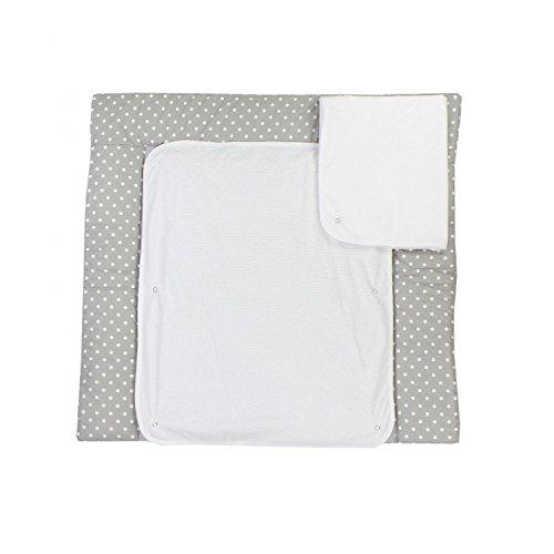 TupTam Wickelauflage inklusive 2 Frotteebezüge - Druckknöpfe, Farbe: Grau, Größe: 75 x 80 cm