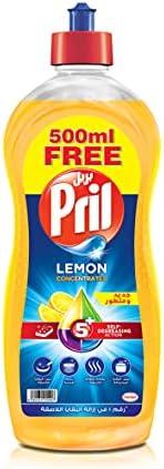 Pril Dishwashing Liquid - Lemon (1.5 Litres), with 5+ Self-Degreasing Action Power, Long-Lasting Formula for S