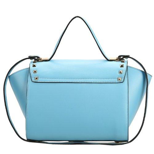 Dissa Q0435 donna Borse a spalla,Borse a tracolla26x21x16 cm (B x H x T) Blue