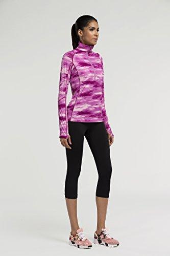 fringoo de couche de base de compression Femme Training Top manches longues pour homme Sport Gym pour sous-vêtements thermiques S M L XL Multicolore - Violet