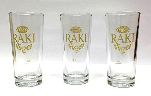 6 x Raki Glas Gold Gläser Raki Bardagi (je 200 cc)
