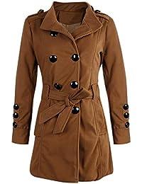 406a021829e46 Jokereader Long Sleeve Winter Woolen Coats Women Pockets Slim Fit Parkas  Plus Size Winter Warm Windshield