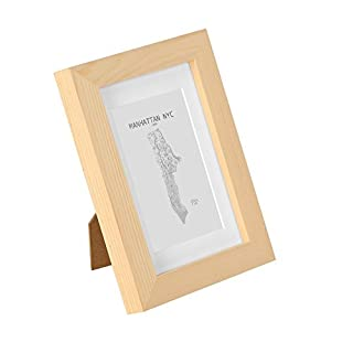 Classic by Casa Chic Single Photo Frame with Glass Front and Picture Mounts,6 x 4-Inch